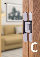 Ponuka závesov, pántov a pivotov na drevené dvere.