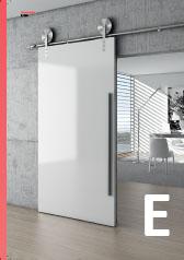 Dizajnové posuvné systémy pre sklenené aj drevené dvere.