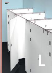 Riešenia pre WC kabíny - pánty, držiaky panelov, háčiky, uzamykacie systémy a pod.. od výrobcu JNF.