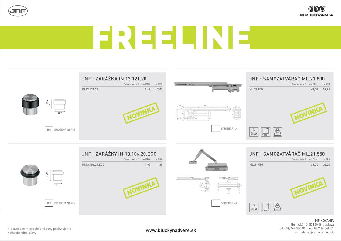 Novinky z produktovej rady FREELINE