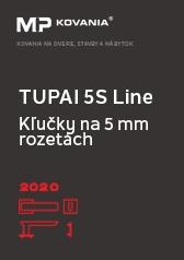 V tomto katalógu prinášame dizajnovú radu kľučiek na tenkých 5S rozetách značky TUPAI.