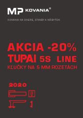 AKCIA - 20% na vybrané modely kľučiek z rady TUPAI 5S LINE.