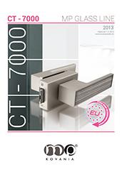 Kovanie na sklenené dvere série CT–7000 je minimalistické kovanie, na ktorom vyniknú najmä dizajnové kľučky.