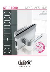 Moderné dizajnové kovanie CT–11000 je možné kombinovať s rôznymi dizajnovými kľučkami.