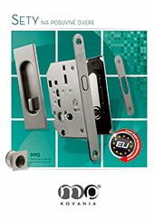 Sety na posuvné dvere rôznych tvarov, materiálov a povrchových úprav.